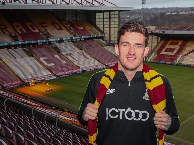 GOALS: Bradford City striker Danny Rowe