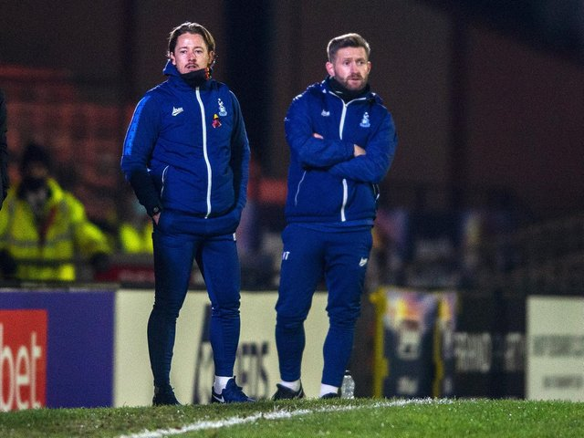 DELIGHTED: Conor Sellars, left with co-manager Mark Trueman