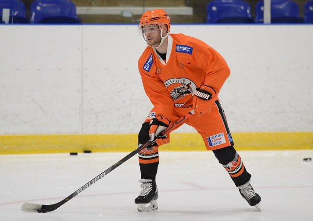 ON HOME ICE: Robert Dowd was relieved to step out on to the ice at ICe Sheffield this week. Picture: Dean Woolley.