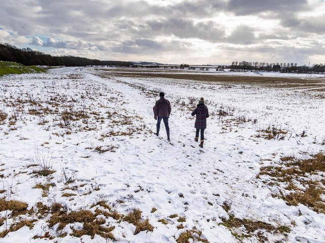The Met Office has warned of hail and snow starting from Easter Monday