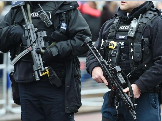 A generic picture of armed police.