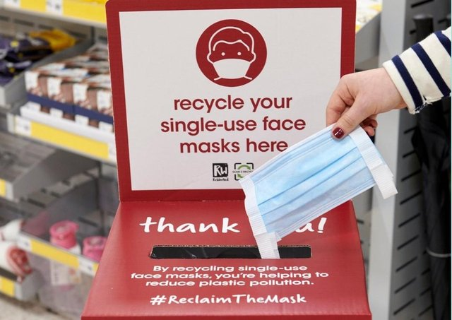 Customers will be able to recycle used disposable face masks in 150 Wilko stores across the country.