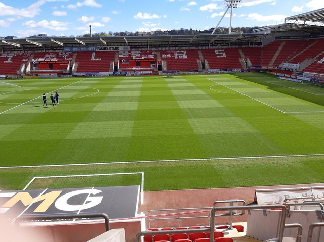AESSEAL New York Stadium, ahead of Rotherham United's home game with Wycombe.