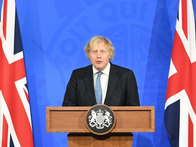 Prime Minister Boris Johnson, during a media briefing in Downing Street, London, on coronavirus (Covid-19). Photo: PA