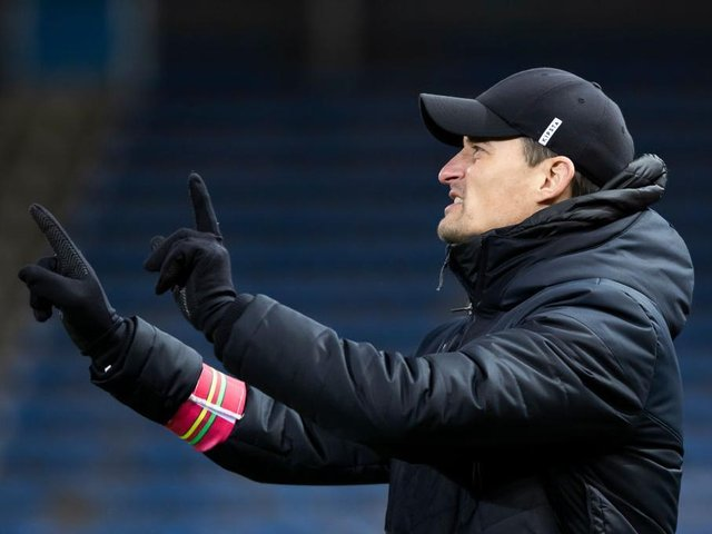 MANAGERIAL TARGET? Sheffield United are thought to be one of a number of clubs interested in Oostende's German coach Alexander Blessin
