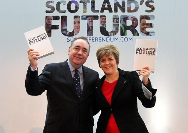 This was Alex Salmond and Nicola Sturgeon prior to the 2014 independence referendum - and the deterioration of their then working relationship.