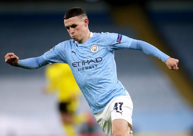 Winner: Manchester City midfielder Phil Foden's late goal earned the hosts a 2-1 win over Borussia Dortmund. Picture: Nick Potts/PA Wire.