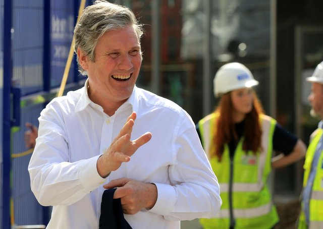 Labour leader Sir Keir Starmer during a recent campaign event in Sheffield.