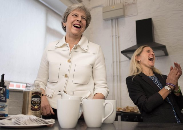 Theresa May launched the national loneliness strategy with Kim Leadbeater, the sister of murdered MP Jo Cox.