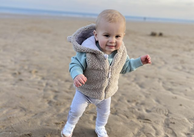 ALfie Kay, one, is living with cystic fibrosis