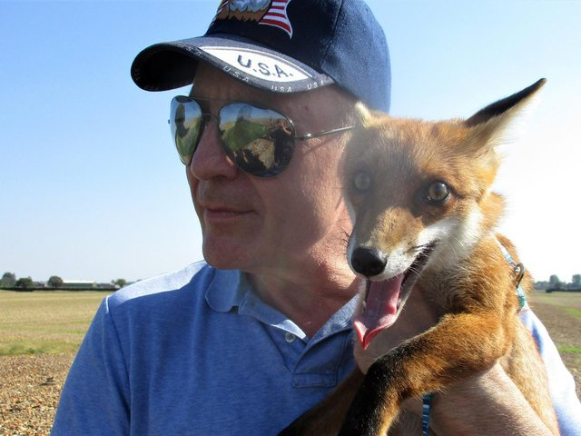 Les with Ben, who he rescued from a sanctuary (Pic: SWNS)