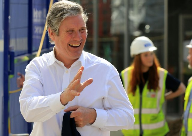 Labour leader Sir Keir Starmer during a campaign visit to Sheffield, but what is his party's stance on Brexit now?