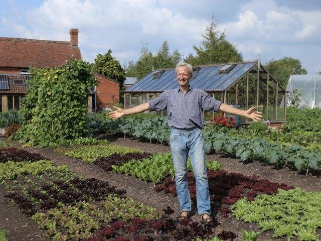 Charles Dowding in his garden. Picture: PA