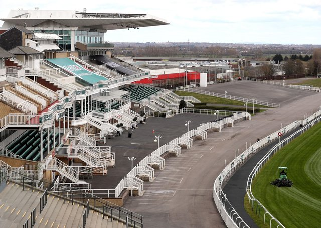 This was the scene at Aintree ahead of the Randox Grand National meeting.