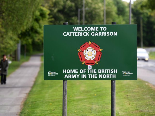 A number of housing developments are taking place in Catterick Garrison