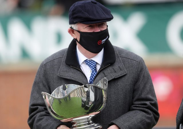 Sir Alex Ferguson after the big race win of Clan Des Obeaux on day one of the Randox Grand National meeting.