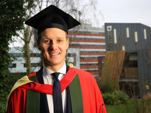 BBC presenter and University of Sheffield graduate Dan Walker received an Honorary Doctorate during the University of Sheffield's Winter Graduation week in 2019