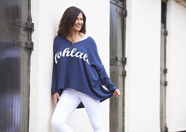 Julie wears Made in Italy Ooh La La knit jumper, £33, Kit and Kaboodal