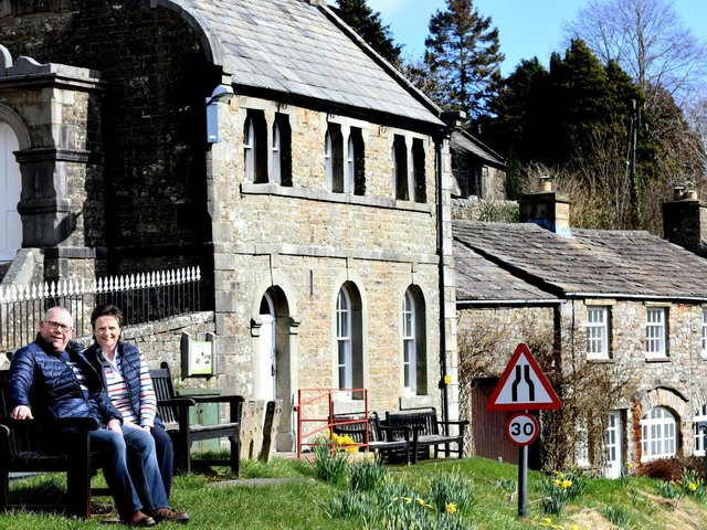 Andy and Mandy Gascoigne in the village of Muker