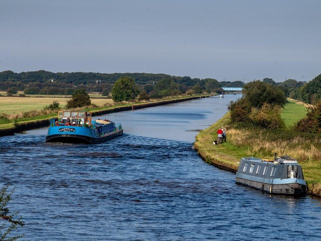 Two pensioners were left with injuries after a man punched them and struck them with his bike during a walk along a canal close to Birkwood Road, Normanton. Stock image of the Aire and Calder navigation.