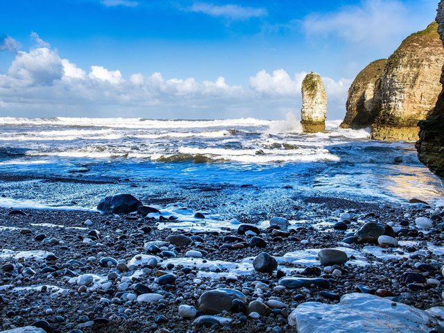 Sea Stack, Selwick Bay, at Flamborough Head. Picture Bruce Rollinson Tech details: Nikon D6, 24-70mm Nikkor,  500th sec @f8, 320 iso.
