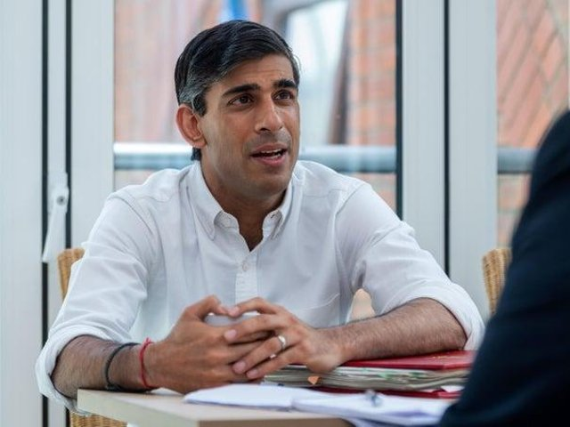 Chancellor Rishi Sunak during an interview with The Yorkshire Post earlier this year.