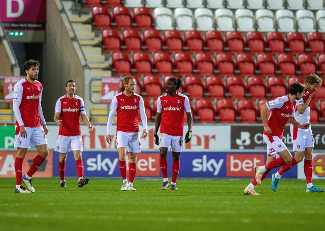 TARGET: Rotherham United's players are aware how many points their boss Paul Warne believes will ensure survival.  Picture Bruce Rollinson