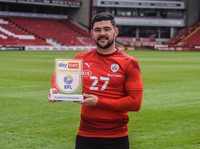 AWARD: Barnsley captain Alex Mowatt has been recognised as the best Championship player in March
