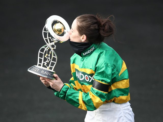 RANDOX GRAND NATIONAL: Rachael Blackmore won the world-famous steeplechase on Minella Times. Picture: Getty Images.