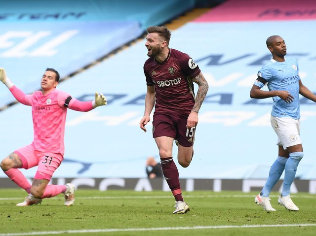 VICTORY: Stuart Dallas scores the winning goal. Picture: Getty Images.