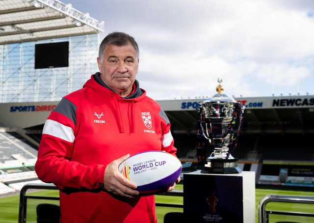 In charge: England Rugby League head coach Shaun Wane. Picture: SWPix