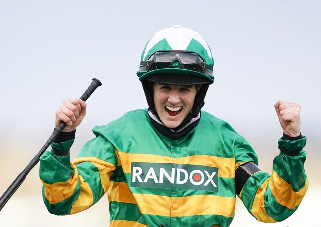 Rachael Blackmore made history by becoming the frst female jockey to win the Randox Grand National.