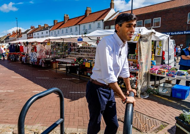Chancellor Rishi Sunak during a walkabout in Northallerton last June.