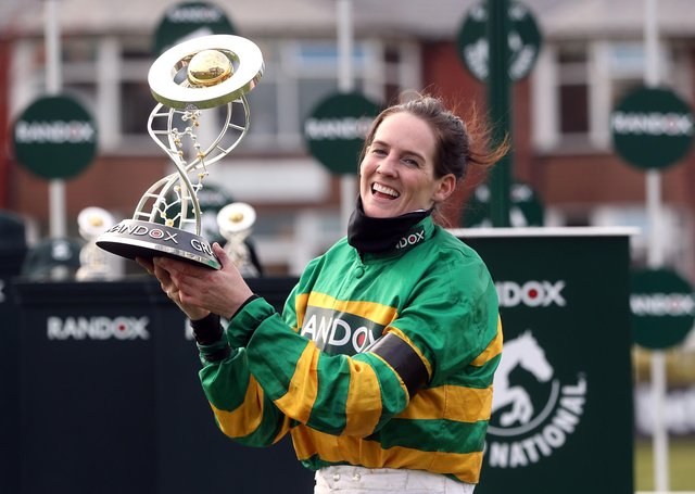 Rachael Blackmore has beocme the first female jockey to win the Randox Grand National.