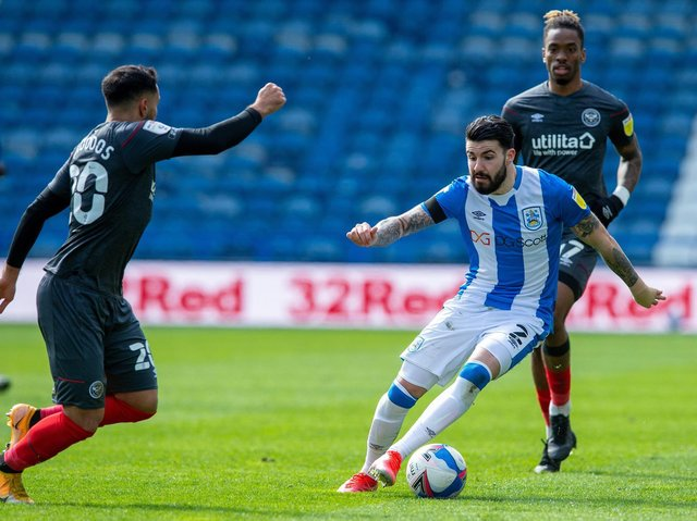 INJURY: Huddersfield Town full-back Pipa is playing through a groin strain
