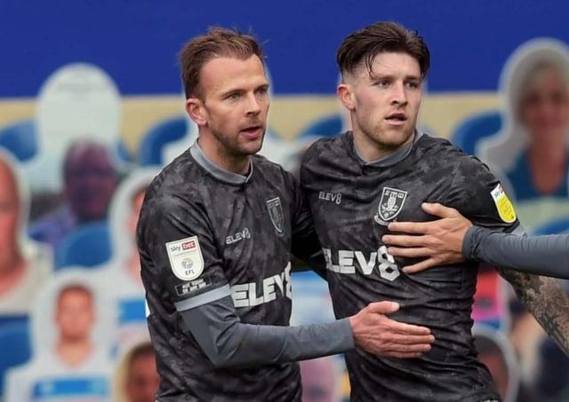 Finding the net: Sheffield Wednesday's Jordan Rhodes, left, and Josh Windass. Picture: Steve Ellis