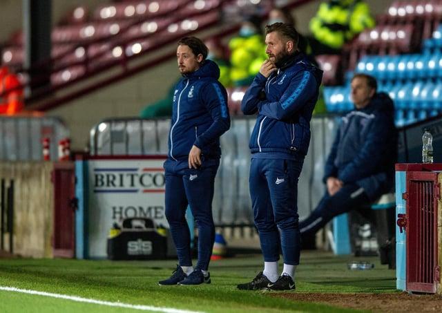 Good job: Bradford City jonit-managers Connor Sellars and Mark Trueman.Picture Bruce Rollinson