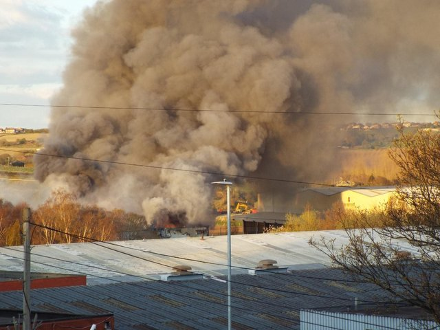 Firefighters have been called to a blaze at an industrial estate in Dewsbury, West Yorkshire.
