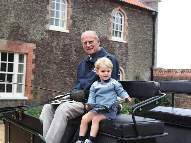 The Duke of Edinburgh with Prince George, taken by the Duchess of Cambridge in Norfolk in 2015