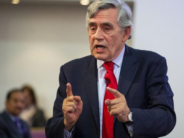 Former Prime Minister Gordon Brown. Photo by Duncan McGlynn/Getty Images.