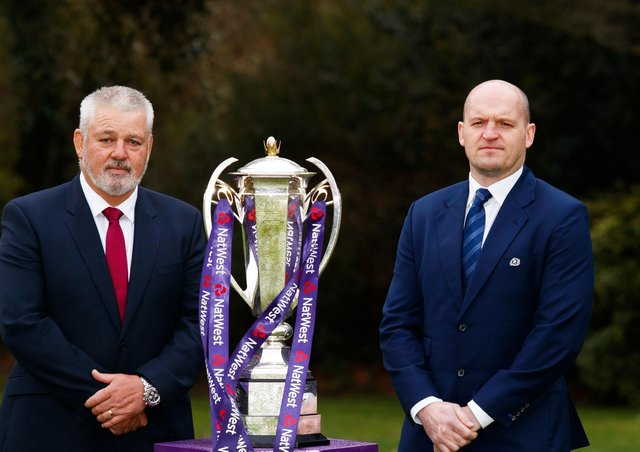 In charge: Warren Gatland with attack coach Gregor Townsend. Picture: PA