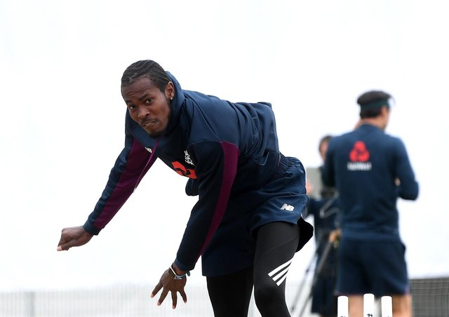 Recovering: Jofra Archer.