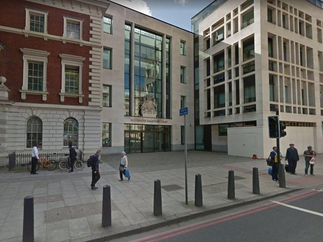 The trio appeared at Westminster Magistrates' Court