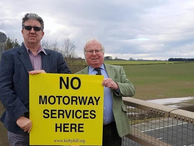 Gareth Owens and Coun Nick Brown close to the proposed site