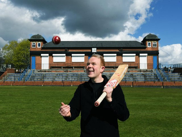 Colson Smith at Castleford Cricket Club where he has been involved since he was a schoolboy. (Picture: Jonathan Gawthorpe).
