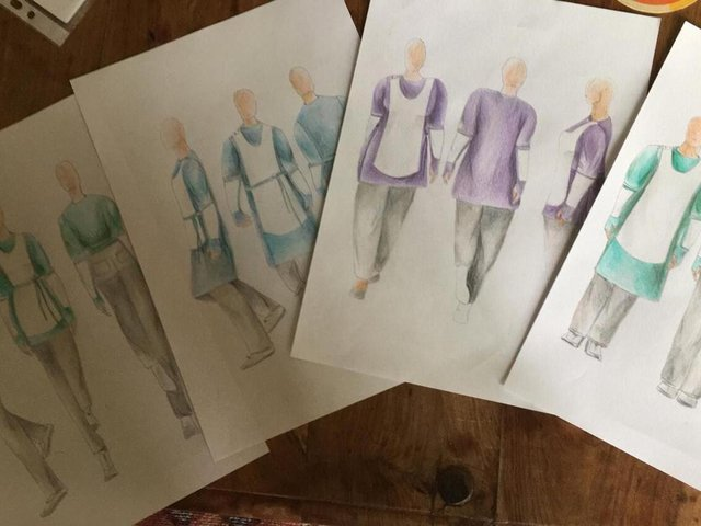 Designs by Natasha Mackmurdie, costume supervisor, with insights from CareSleeves Discovery Team.