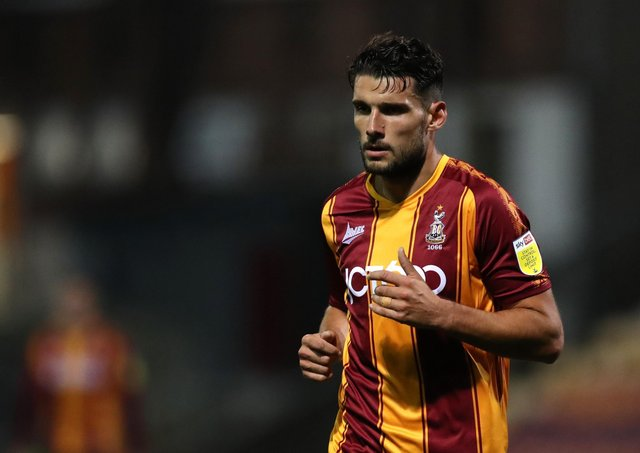 Gareth Evans of Bradford City. (Photo by George Wood/Getty Images)