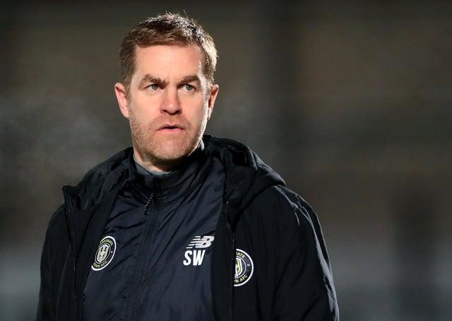 Harrogate Town manager Simon Weaver.