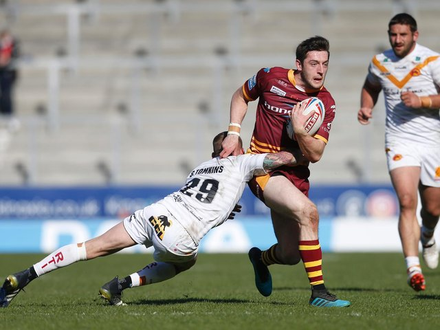 Huddersfield Giants' Jake Wardle in action against Catalans Dragons (ED SYKES/SWPIX)