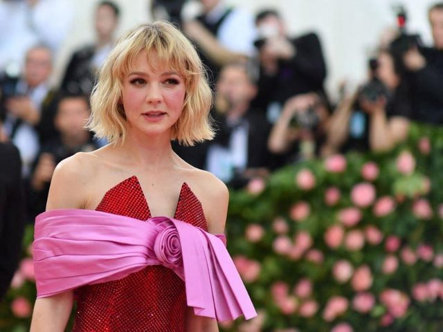 Actress Carey Mulligan arrives for the 2019 Met Gala at the Metropolitan Museum of Art on May 6, 2019, in New York, Credit: ANGELA WEISS/AFP via Getty Images.